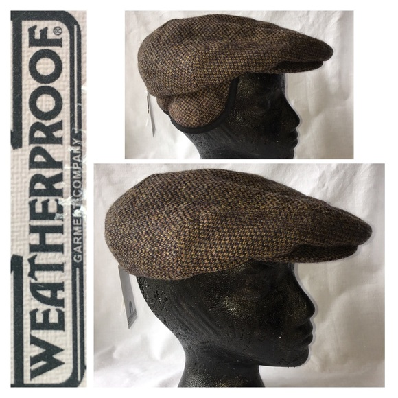 353744f5b05fa MENS tweed XL wool FLAT CAP soft warm ear flap